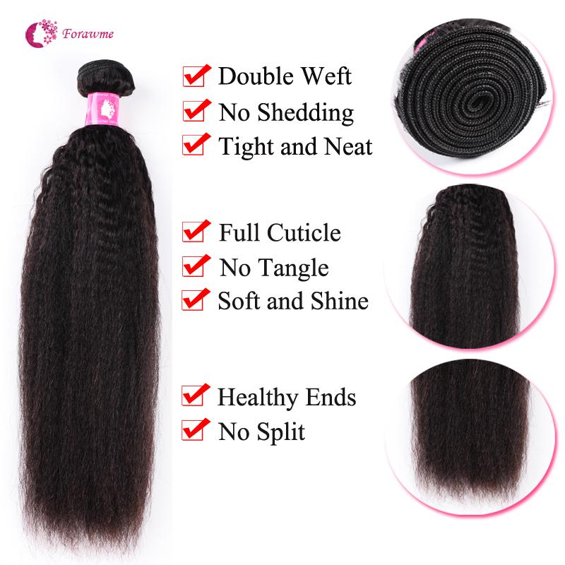 8495259c31b 3-4 bundles Brazilian hair Peruvian Virgin Hair Kinky Straight 1B Natural  Black Remy Human Hair Weave For Afro Women