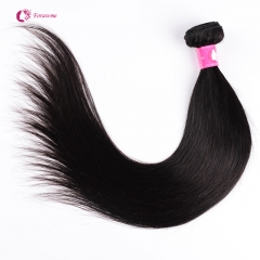 Brazilian Virgin Straight Hair Unprocessed Remy Human Hair Weft Soft 1B Natural Black Hair Weave 1 2 pcs/lot
