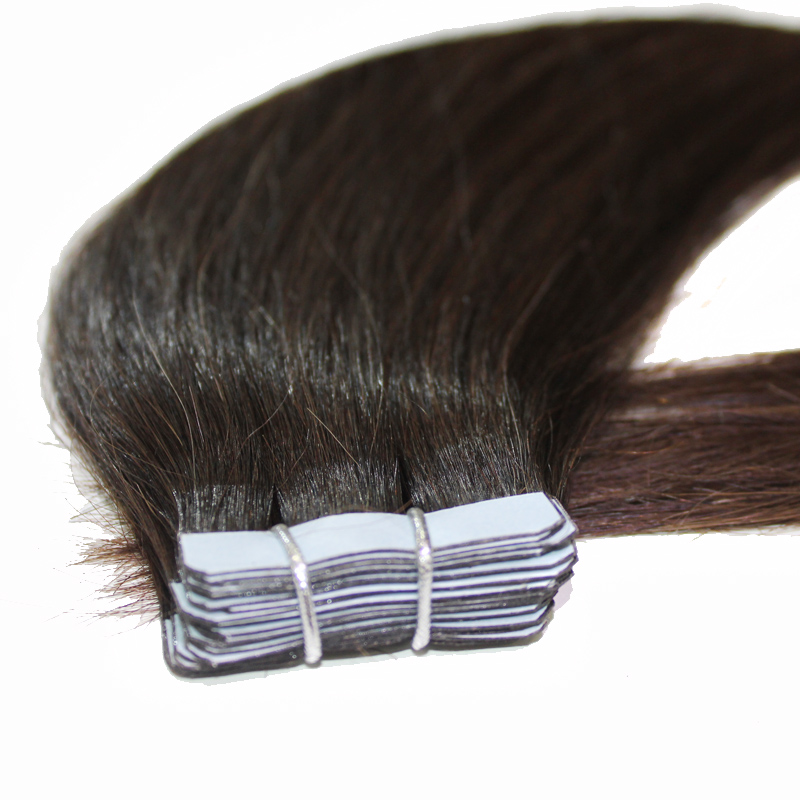 straight tape in hair extensions