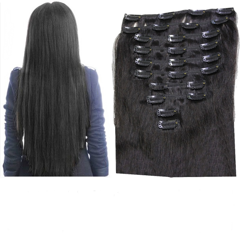 10pcsset 180g Clip In Hair Extension Remy Hair