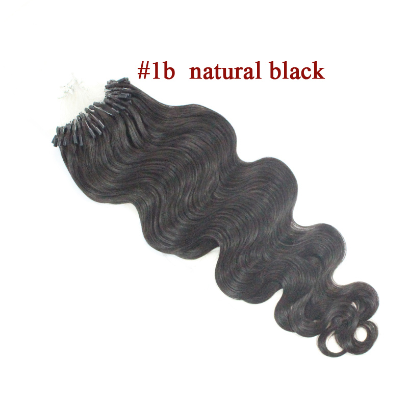 100 Strandslot 100g Micro Loop Ring Hair Extension Body Wave Remy