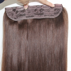 One piece 100g human hair clip in hair extension Brazilian remy hair 5 clip in extension