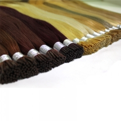 "Brazilian Straight Human Hair Pre bonded Human Hair Extensions Straight I Tips Extension 100g/bundle 18""-24"""