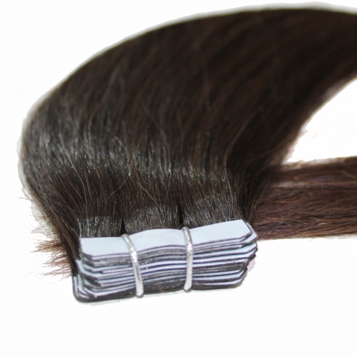 Tape ins hair extensions 100% human hair extension skin weft hair PU extension straight 40g(20pcs/set)