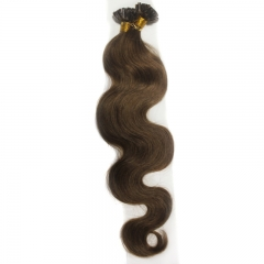 Keratin Fusion Brazilian hair extension body wave Nail tip hair extension 100g