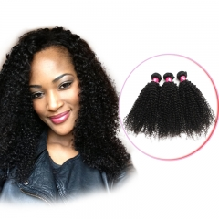 Brazilian hair Peruvian Virgin Hair Kinky Curly Wave 3-4 bundles/lot Remy Human Hair Weave Kinky Curl