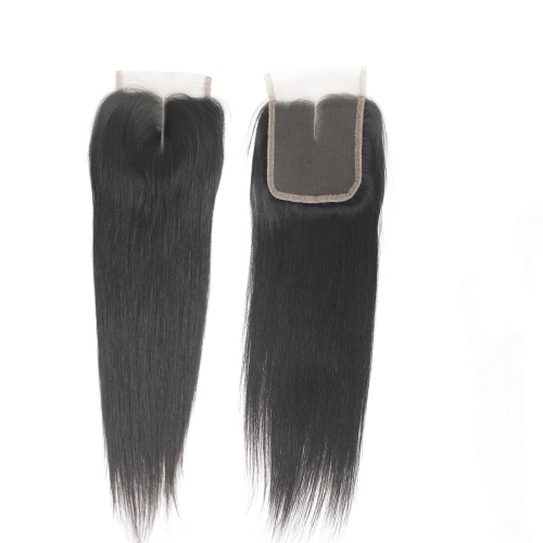 Brazilian Silky Straight Lace Closure Virgin Human Hair Swiss Lace middle part 4x4 Lace Closure