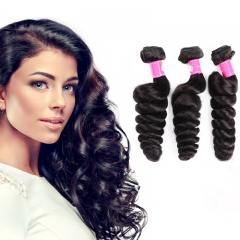 Virgin hair Loose Wave Remy Human Hair Weave Brazilian hair