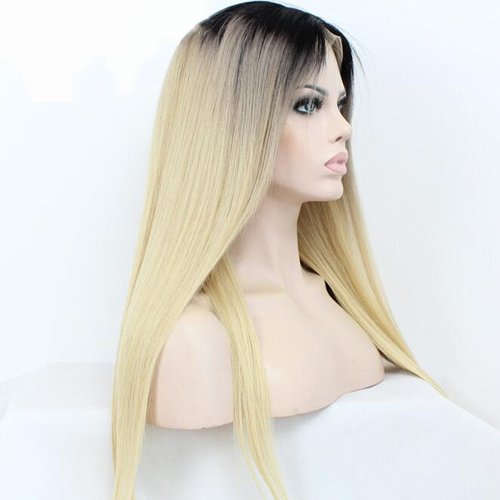 1b/613 Ombre Blonde Straight Lace Front Wigs Body Wave Human Hair Wigs