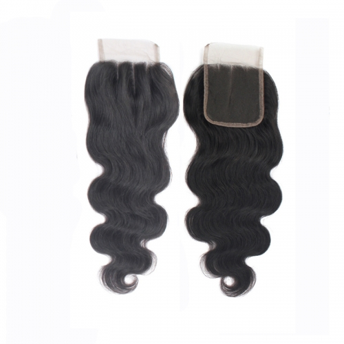 Forawme Pre Plucked Body Wave Lace Closure Swiss Lace 4x4 Mink Closures 100% Human Hair
