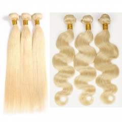 9A grade 613 blonde hair for sale straight and body wave blonde hair bundles