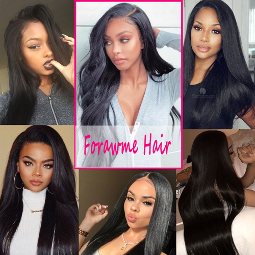 mink straight hair bundles with closure
