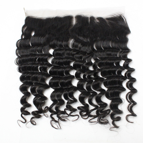 Mink Deep Wave Lace Frontal Brazilian Virgin Hair Swiss Lace Frontal