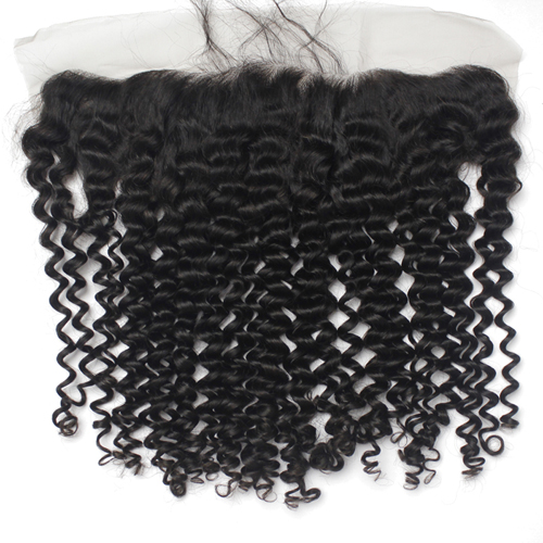 Preplucked Brazilian Deep Curly 13x4 Lace Frontal Brazilian Virgin Hair Swiss Lace Frontal