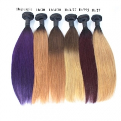 Straight ombre hair Brazilian color hair 100% human hair