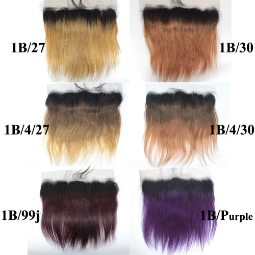 13x4 Ombre Straight Lace Frontal Brazilian Hair Swiss Lace Frontal
