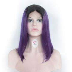 1b purple ombre Bob Wigs 150 density ombre wigs for Sale Straight Bob Wig