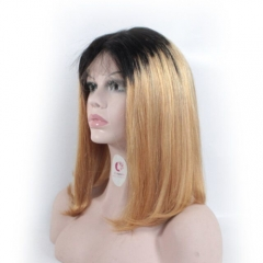 150 density ombre 1b/27 Bob Wigs for Sale Straight Glueless Lace Wig Short Human Lace Wig
