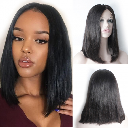 Transparent Lace Straight Bob Wig Human Hair Wigs 13X6 Lace Front Wigs Brown Bob Wig