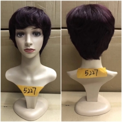 Fashionable Non Lace Straight Short Wig Human Hair Short Wig