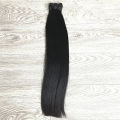 9A double drawn straight hair unprocessed virgin double drawn hair
