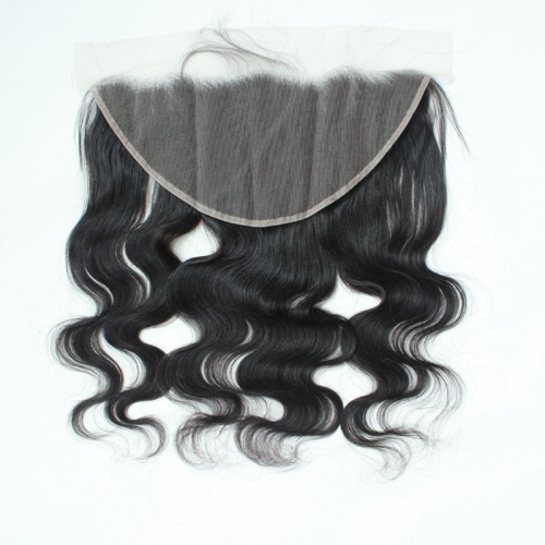 13x6 Straight HD Transparent Lace Frontal Human Hair Body Wave Invisible Lace Frontal