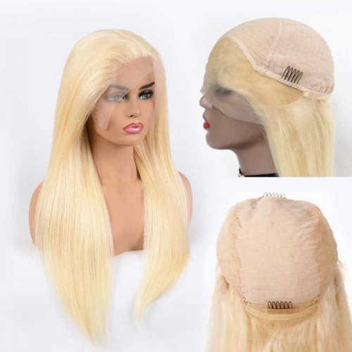 straight blonde lace front wig 613 blonde wigs wavy blonde full lace wig