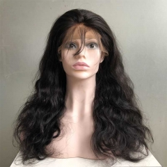 18 inch Fake Scalp Wigs Body Wave Human Hair Wigs Lace Front Wigs