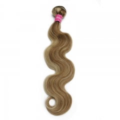 1 Bundle of Two tones Color P8/613 Brazilian body wave and straight hair weaves
