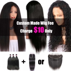 Custom Made Wigs Service Charge