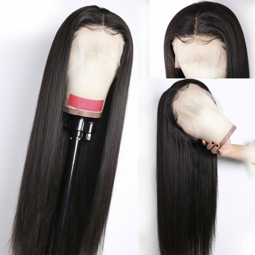 10A Straight Transparent Lace Front Wigs Human Hair Wigs
