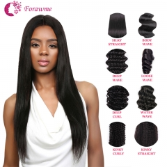 Unprocessed Virgin Hair Mink Hair Bundles Double Wefts Full Cuticle Hair Weaves All Textures Available