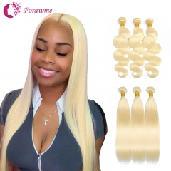 9A grade 613 blonde hair straight and body wave blonde hair bundles