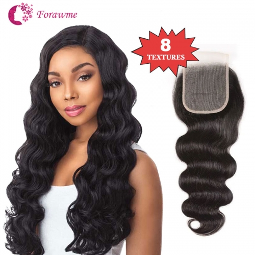 Mink Closures 4x4 Lace Closure Brazilian Virgin Hair Swiss Lace Closures