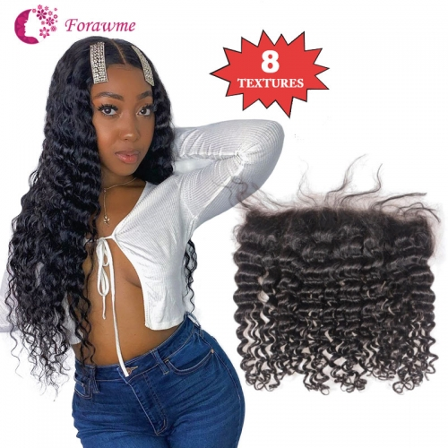 13x4 Lace Frontal Brazilian Hair Swiss Lace Frontal 1B Color Straight Wavy Curly hair