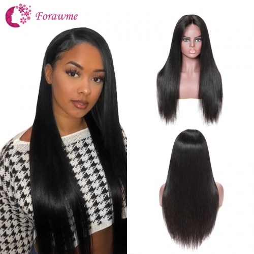 180% Density 13x4 Lace Frontal Wigs Straight Lace Frontal Wig Machine Made Wigs