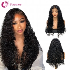 Brazilian Water Wave Wigs Glueless Lace Front Wig Human Hair Water Wave Wigs