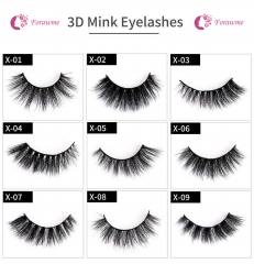 3D mink lashes dramatic eyelashes 112styles